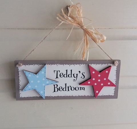 Personalised Playhouse Bedroom Door Sign For Boys